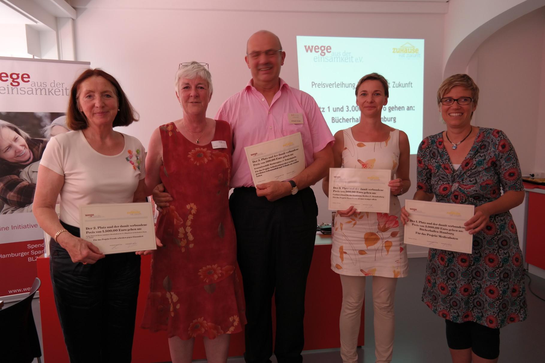Sieger vom Wettbewerb Zuhause hat Zukunft 2014 v.l. Wera Grote, Dagmar Hirche, Wilhelm Grote, Anett Kießig, Christine Rißmann