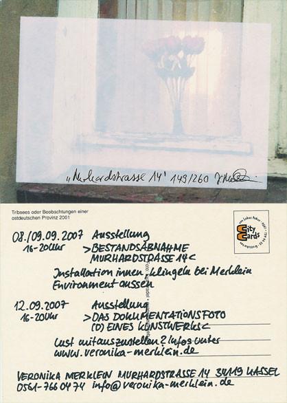 """Ausstellungsflyer: Siebdruck auf Postkarten (""""Citycards"""")"""