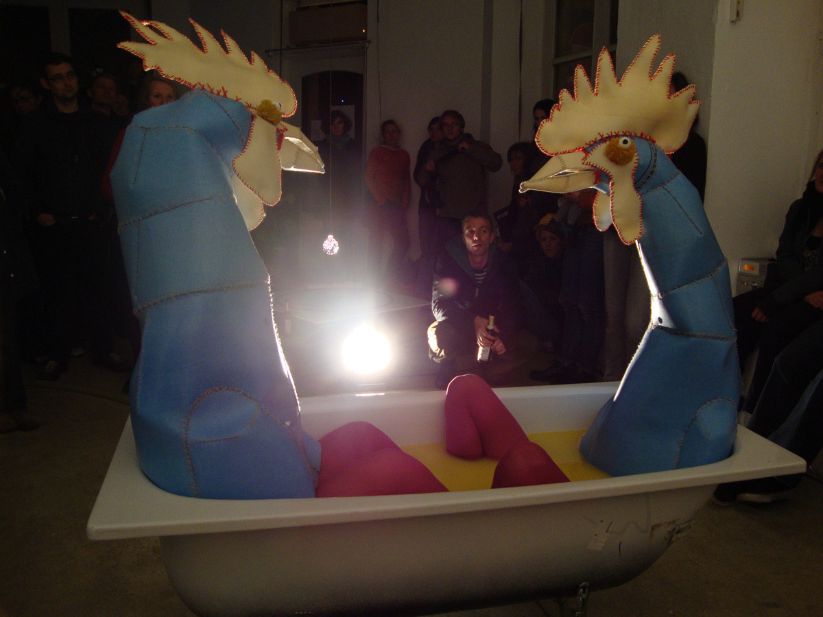 """Projekt- und Hörgalerie """"A und V"""", Leipzig, 2009, Foto: unbekannt"""