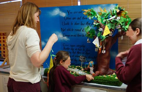 ケアツリーを作るヤングケアラー ロンドン・ハウンスロー地区のヤングケアラー(子供向け)の集い