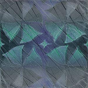 """""""Butterfly"""" Linocut w/stencil, 2010"""