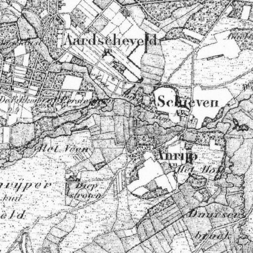 Oude kaart met aanduiding van het Aardscheveld