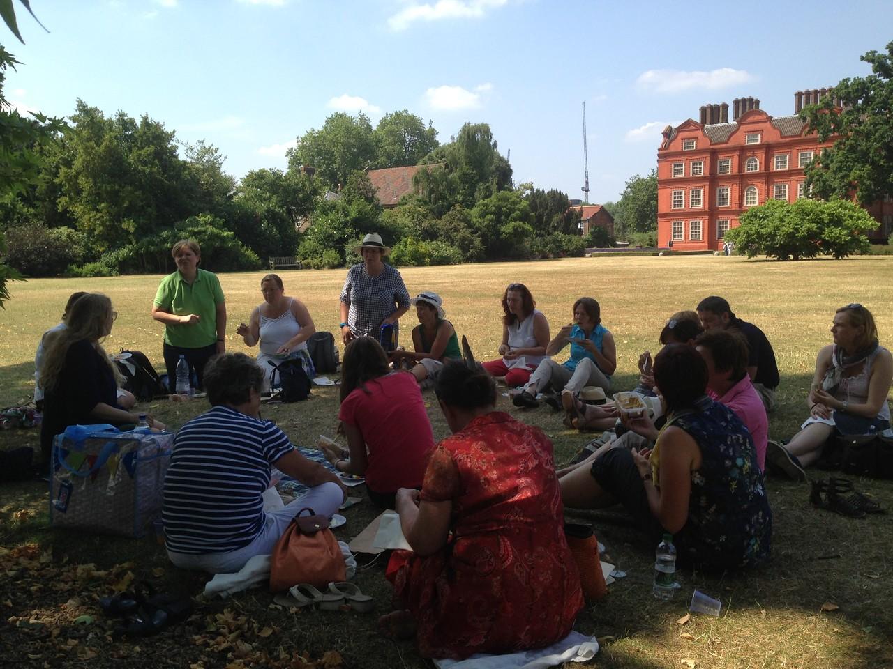 picnic bei Kew Palace