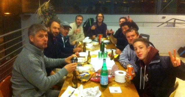 Casse-croûte traditionnel en compagnie de la sympathique équipe de St Viance