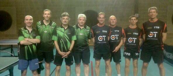 Vincent, Florent, Jean-Michel et Thierry contre Bruno, Eric, Dimitri et Gary