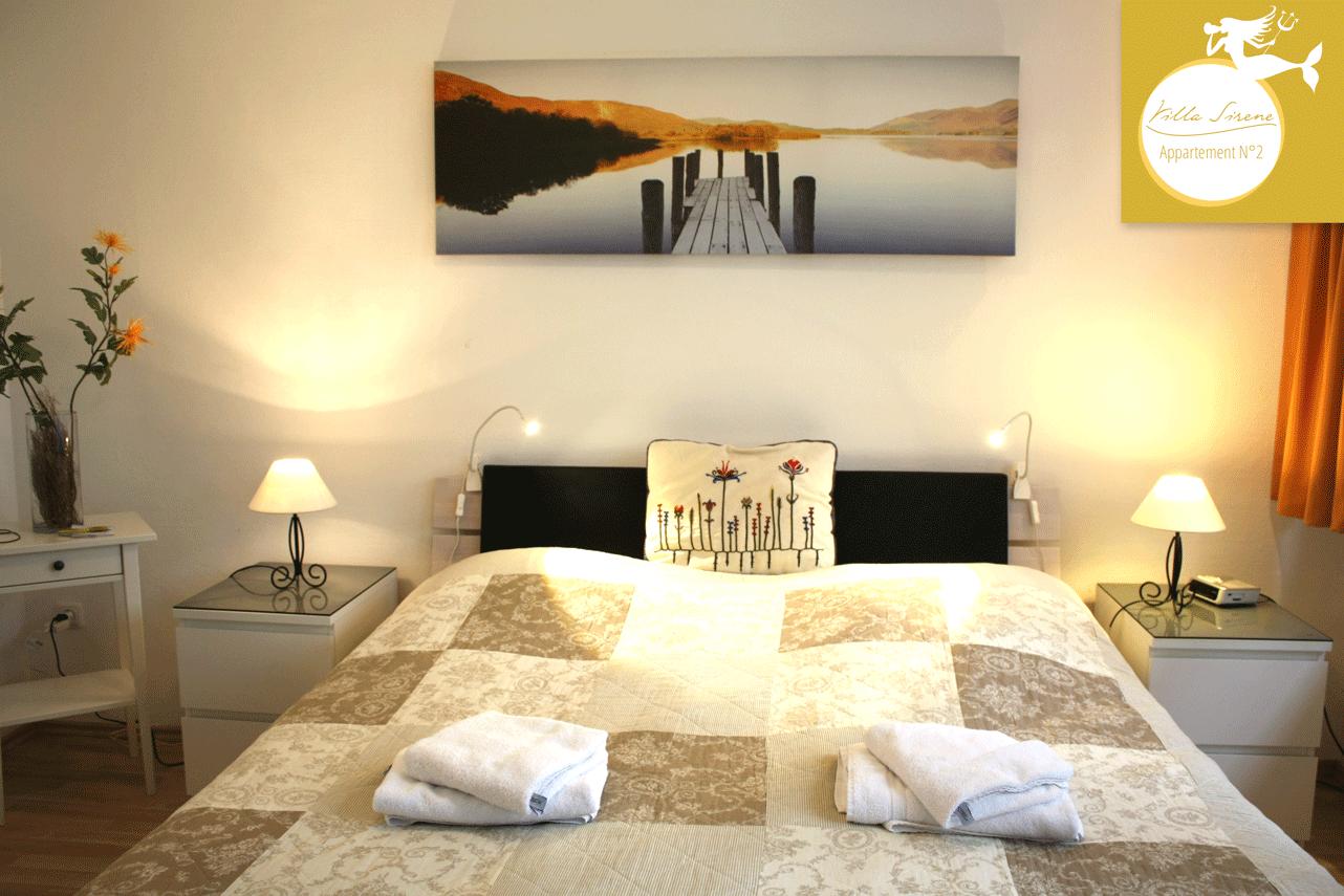 2 Schlafzimmer Ferienwohnung am Strand - Villa Sirene