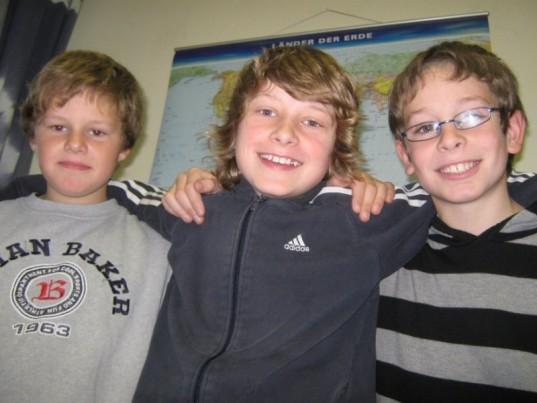 v.l.n.r.: Nils, Marvin, Philip