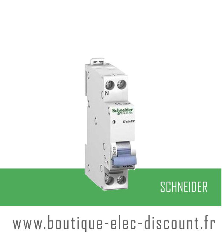 Disjoncteur 10a avec vis r f 20725 schneider materiel lectrique prix discount - Materiel electrique schneider ...