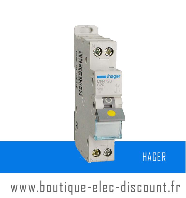 HAGER Disjoncteur 32 A MFN 732 à vis
