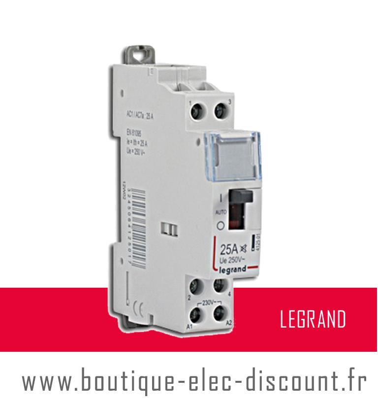 Contacteur j n 25a r f 412501 legrand materiel lectrique prix discount - Materiel electrique discount ...