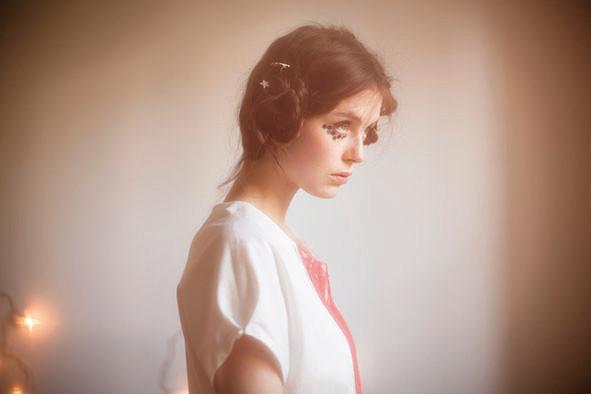 Aimé : blouse plastron dentelle 100% coton - Collection Romantic - Jeanne Berre