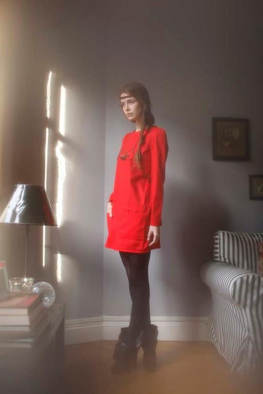 Nérissa : robe poches plaquées, 100% coton - Jeanne Berre