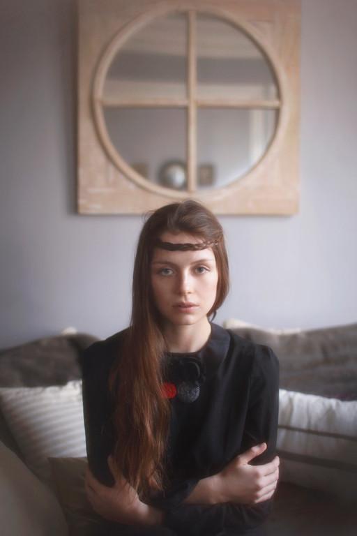Bianca : Faux-col passementerie. Isabella, blouse 100% coton - Jeanne Berre