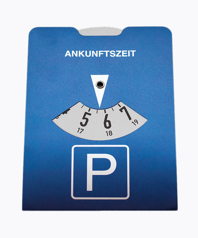 Effekt-Parkscheiben mit Drip-Off-Lackierung