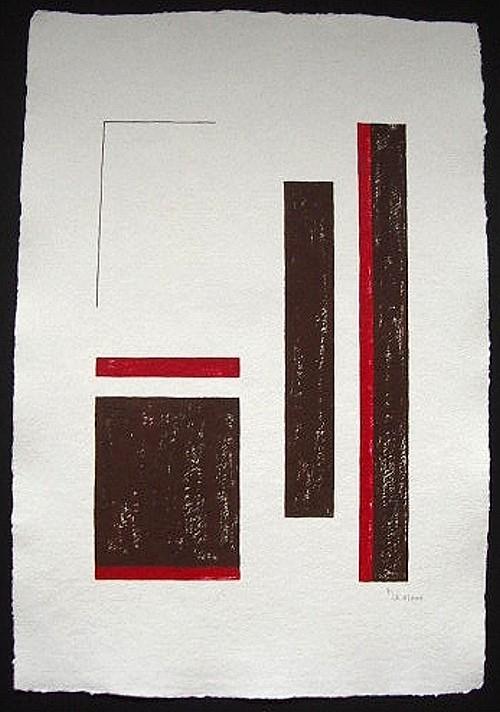 """""""Silence 2""""  / ca. 38 x 56 cm / 90,- € / Acrylmischtechnik auf handgeschöpftem Büttenkarton"""