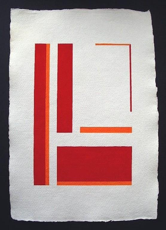 """""""Silence 3""""  / ca. 38 x 56 cm / 90,- € / Acrylmischtechnik auf handgeschöpftem Büttenkarton"""