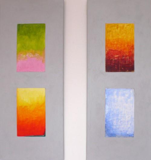 Quatre saisons / je 40 x 100 cm / Paar 400,- €