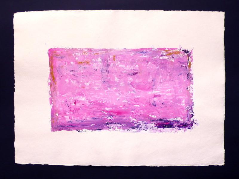 """Sunset"" / ca. 76 x 56 cm / 125,-€ / Acrylmischtechnik auf handgeschöpftem Büttenkarton"