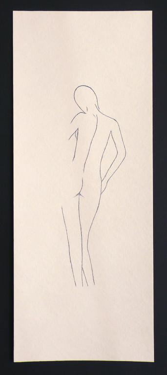 """""""Femme 2"""" /  ca. 20 x 50 cm / 85,- € / Farbstift auf Torchonkarton"""