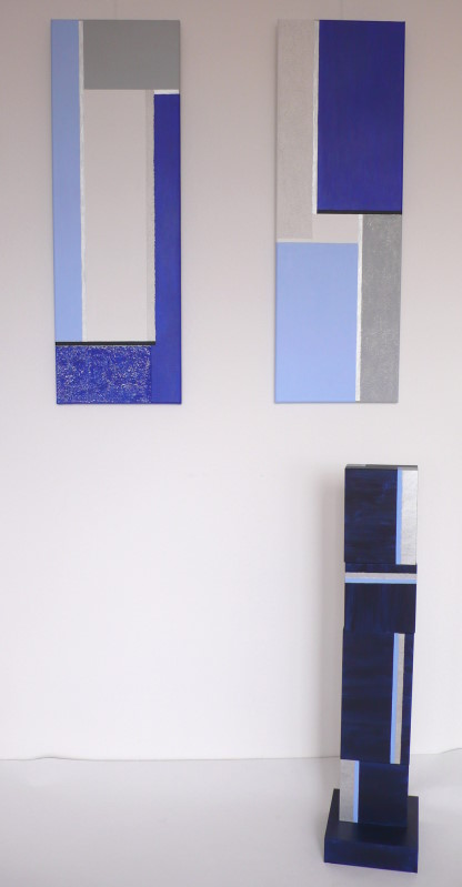New Purism 18 / je 30 x 90 cm / Paar 330,- € / Holzobjekt Vague / 86 x 20 x 20 cm / 225,- €