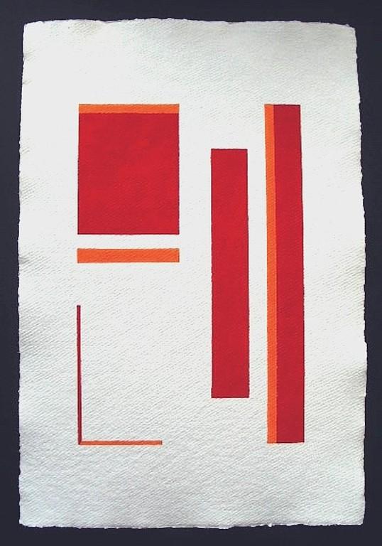 """""""Silence 4""""  / ca. 38 x 56 cm / 90,- € / Acrylmischtechnik auf handgeschöpftem Büttenkarton"""