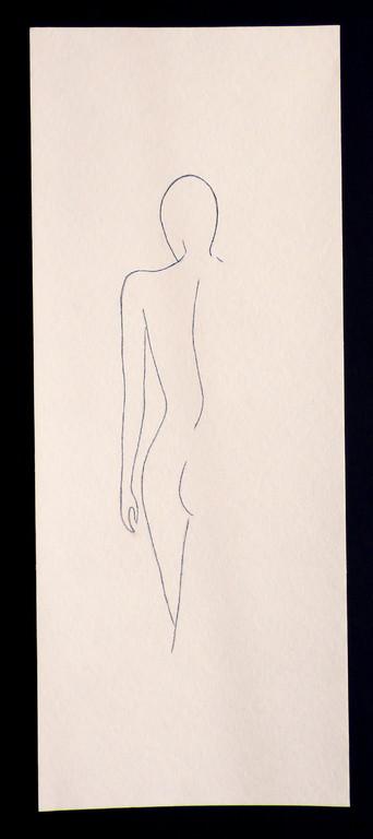 """""""Femme 1"""" /  ca. 20 x 50 cm / 85,- € / Farbstift auf Torchonkarton"""