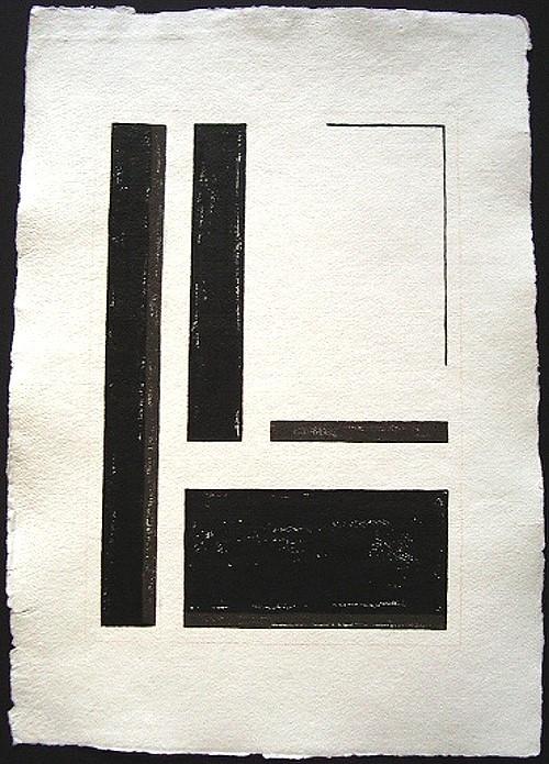 """""""Silence 1"""" / ca. 38 x 56 cm / 90,- € / Acrylmischtechnik auf handgeschöpftem Büttenkarton"""
