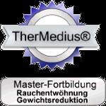 Zertifikat und Siegel zur Masterfortbildung Rauchentwöhnung und Gewichtsreduktion