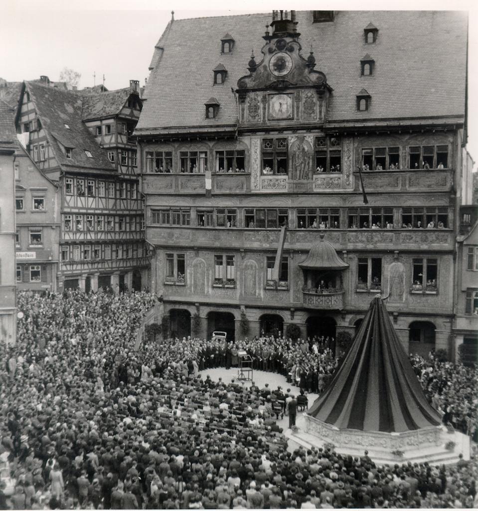 Einweihung 03. 07. 1948, Foto: Stadtarchiv Tübingen.