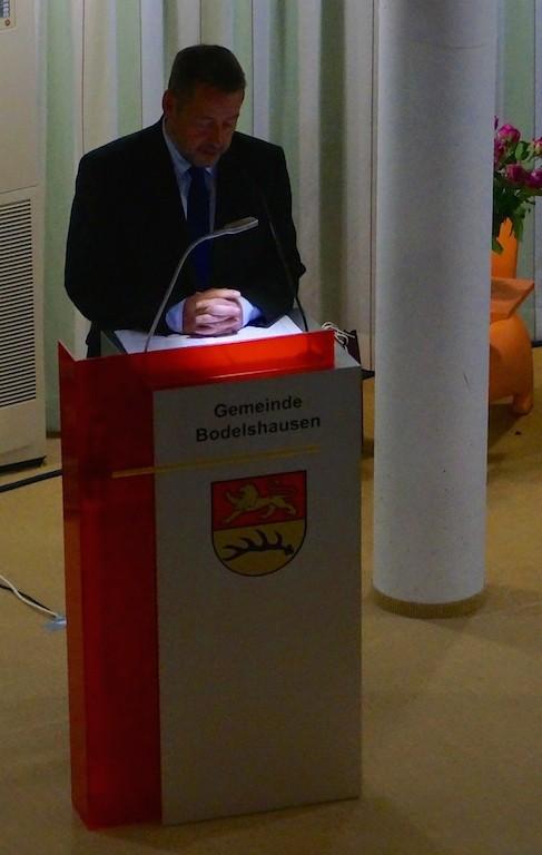 Begrüßung: Uwe Ganzenmüller, Bürgermeister