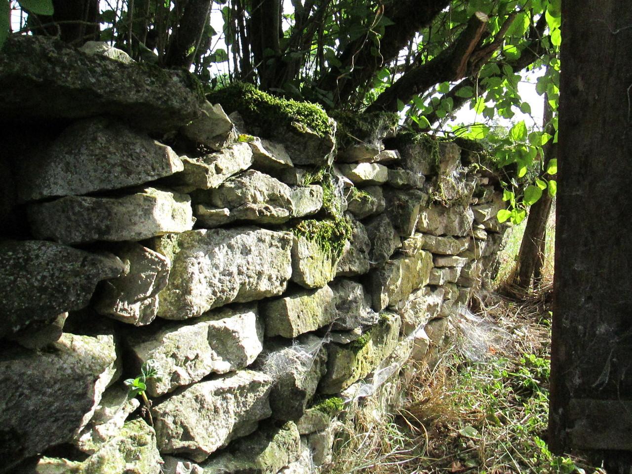La Vieille Forge : détail de murets de pierre sèches