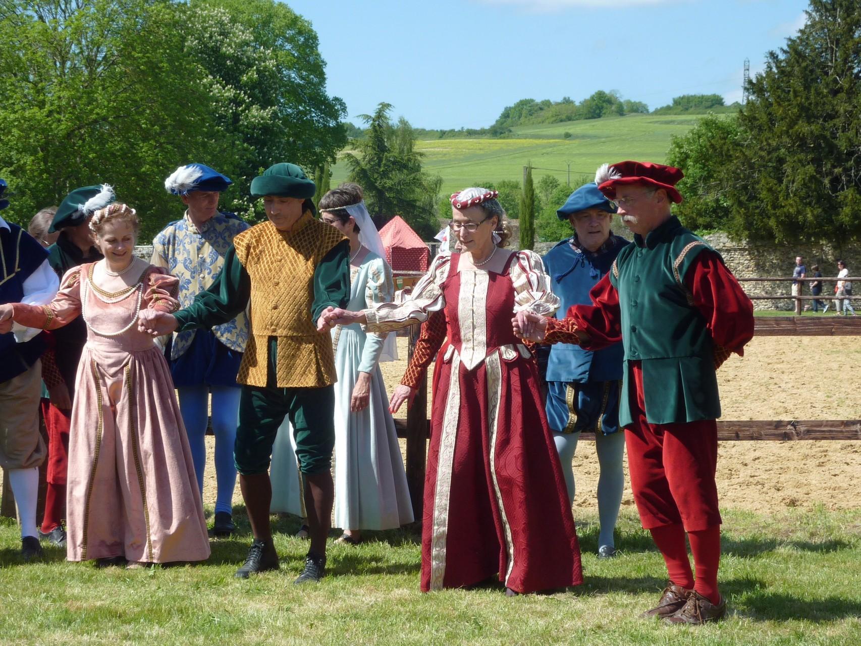 Au Château de Chambines lors d'un tournoi médiéval