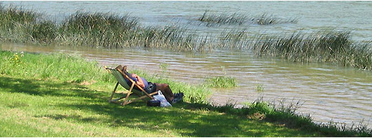 Détente en bord de Saône