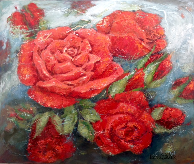 RED ROSES 120/100 ACRYL