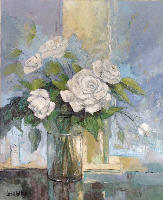 WHITE ROSES 90/110 OLIEVERF
