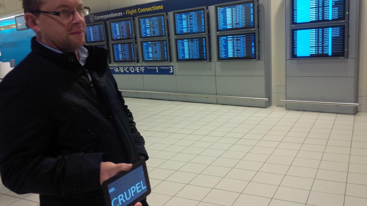 Accueil aéroport avec Nom