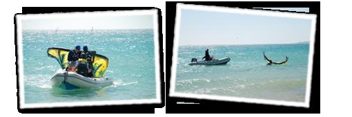 Rettungsboote in Tarifa