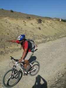 Mountainbiken in Taifa mit Girasol