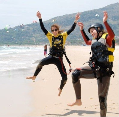 Spass und Freude am Strand von Tarifa