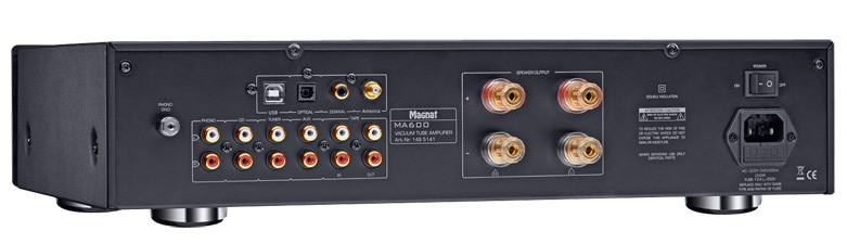 Magnat MA 600 Hybrid-Vollverstärker Rückansicht
