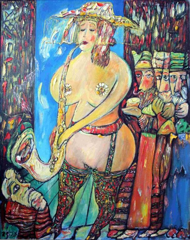 Андрей Елецкий.      Карнавал.     2003 г. Холст, масло. 70х60 см.