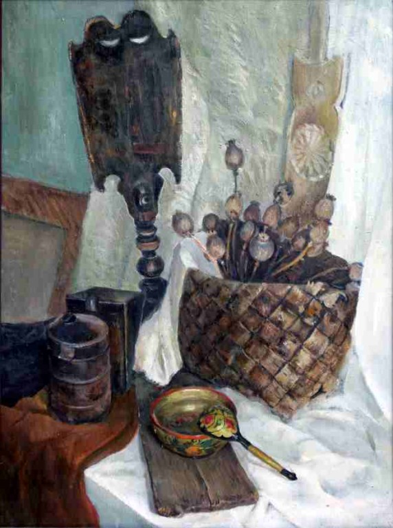Натюрморт.    1983 г. Холст, масло. 80х60 см.