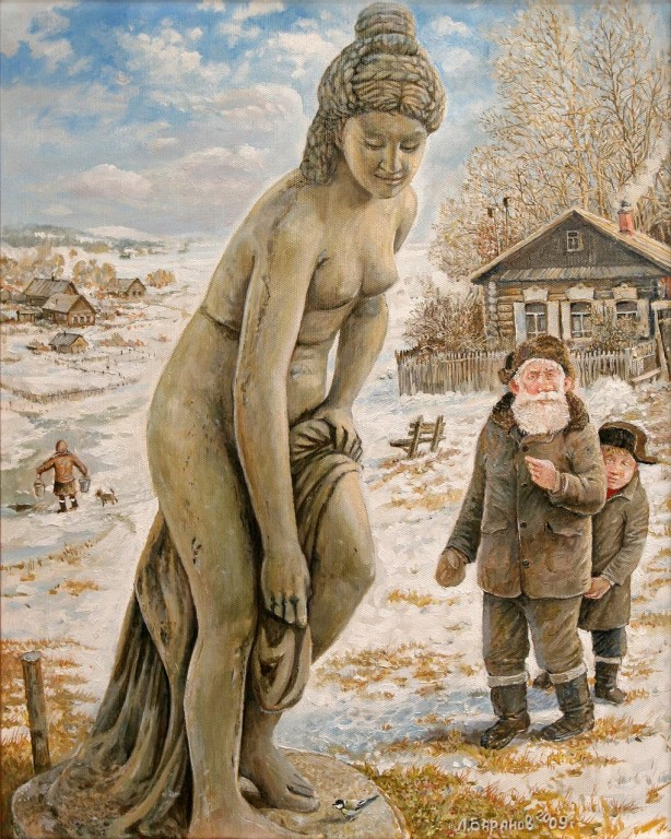 Леонид Баранов.     Весна.     2009 г. Холст, масло. 40х50 см.