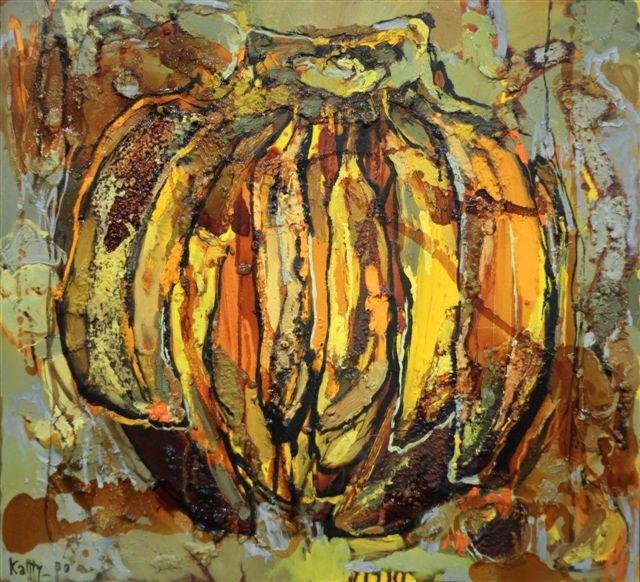 Катерина Поединщикова.     Бананы.    2013 г.    Холст, масло.    70х75 см.