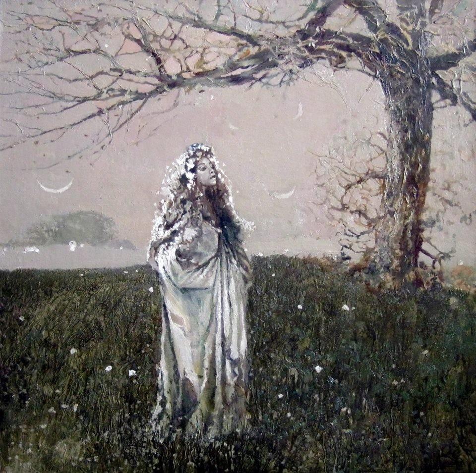 Альберт Крупп.  Русалка.  2012 г.  Холст, масло. 80х80 см.