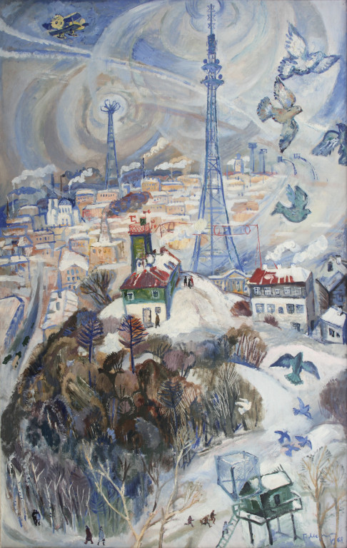 Герман Метелев.     Мой Свердловск.     1976г. Холст,  масло. 150х95 см.