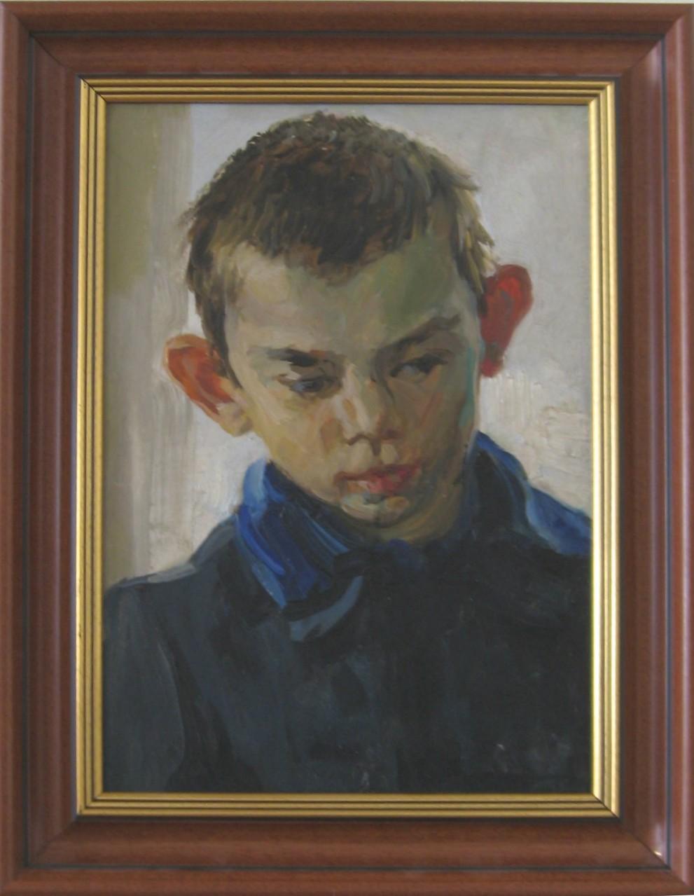 Владимир Терехин (1920-1990).      Валька.   1952 г.      Картон, масло.    34х23 см.