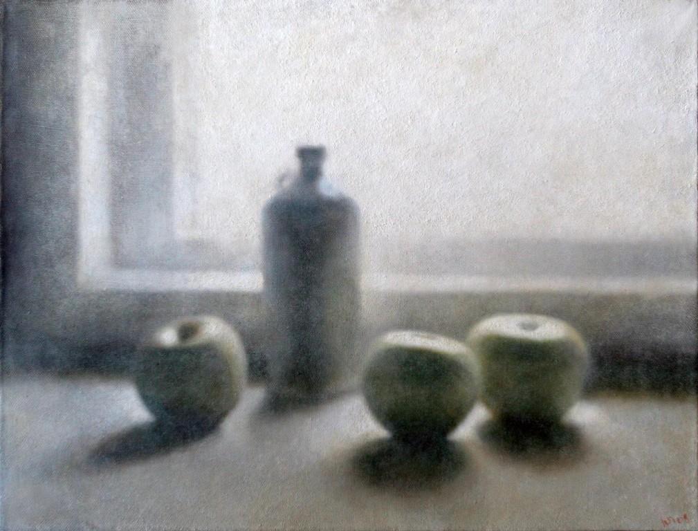 Яблоки.      2008 г. Холст, масло. 71х92 см.