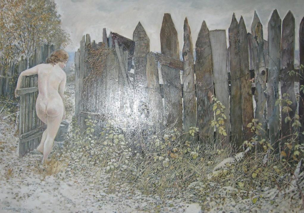 Леонид  Баранов.    Полное ведро.    2009 г.     Холст, масло. 70х50 см