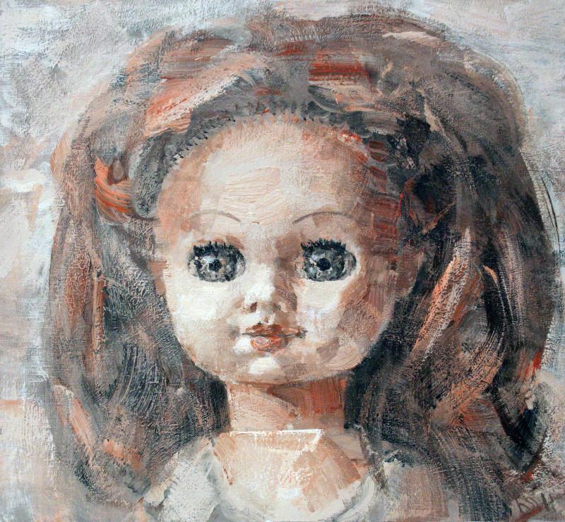 Юрий Первушин.  Кукла – ІI.   2011 г.   Холст, акрил.  60х65 см.